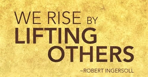 We rise by lifting others1